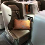 【ミシュラン3つ星料亭の機内食】シンガポール航空 SQ655便 福岡-シンガポールビジネスクラス搭乗記