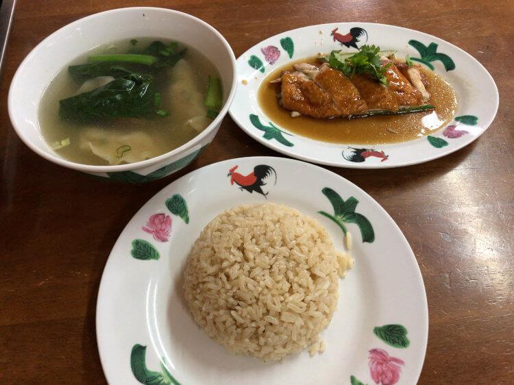 ローストチキン+餃子スープのセット@ウィーナムキー マリーナスクエア店 シンガポール