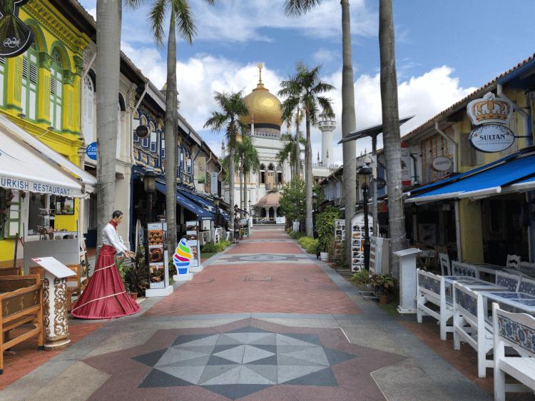 サルタン・モスクとアラブストリート