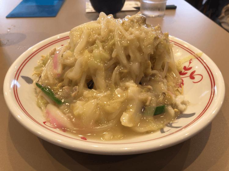 王さんの皿うどん 細麺@ 江山楼新館 長崎