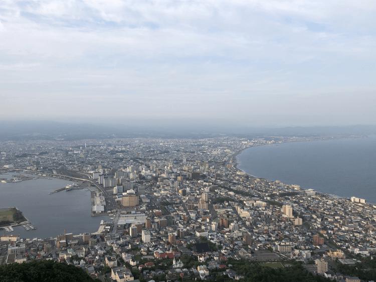 函館山山頂から見た景色